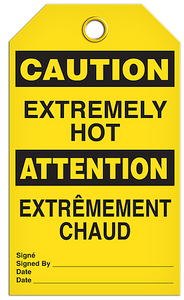 Caution English/French Extreme Tags