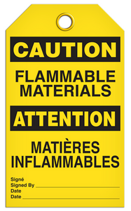 Caution English/French Flammable Tags