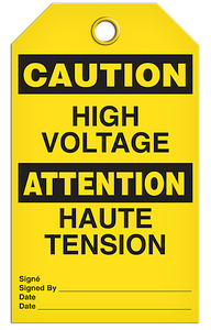Caution Voltage Tags