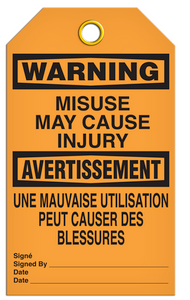 Warning English/French Misuse Tags