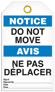 Notice English/French Move Tags
