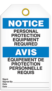 Notice English/French Ppe Req Tags
