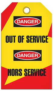 Lockout English/French Service Tags