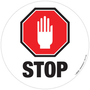 Floor Sign - Stop Sign with Hand