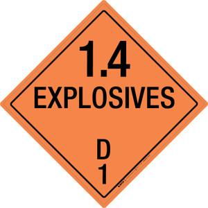 Explosive: Class 1.4 - D - Wall Sign
