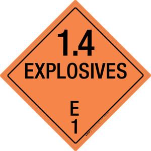 Explosive: Class 1.4 - E - Wall Sign