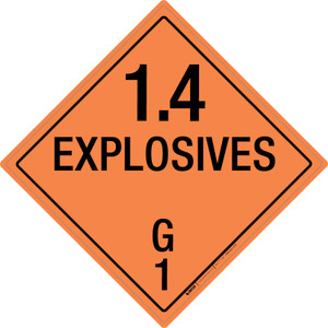 Explosive: Class 1.4 - G - Wall Sign