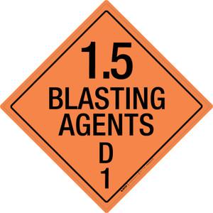 Explosive: Class 1.5 - D - Wall Sign
