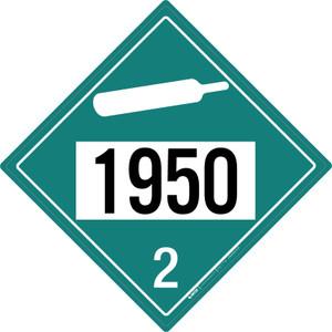 Non-flammable Gas: Class 2 - UN1950 - Placard Sign