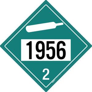 Non-flammable Gas: Class 2 - UN1956 - Placard Sign