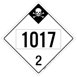 Inhalation Hazard: Class 2 - UN1017 - Placard Sign