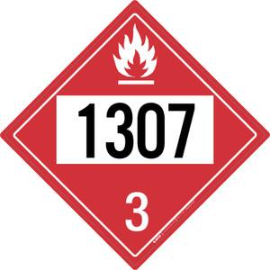 Flammable: Class 3 - UN1307 - Placard Sign