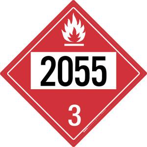 Flammable: Class 3 - UN2055 - Placard Sign