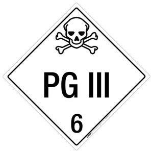 PG III: Class 6 - Placard Sign