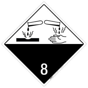 Corrosive: Class 8 Blank  - Placard Sign