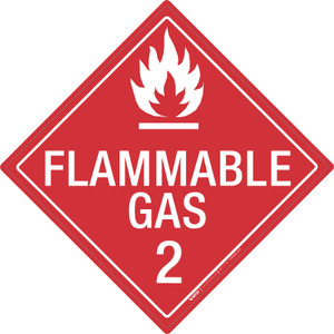 Flammable Gas: Class 2 - Placard Sign