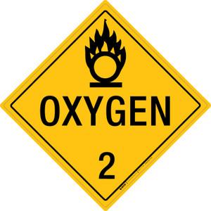 Oxygen: Class 2 - Placard Sign