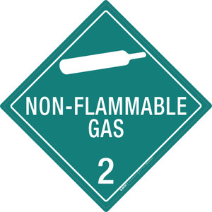Non-flammable Gas: Class 2 - Placard Sign
