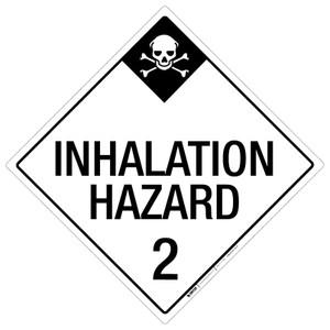 Inhalation Hazard: Class 2 - Placard Sign