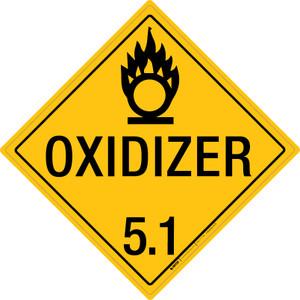 Oxidizer: Class 5.1 - Placard Sign
