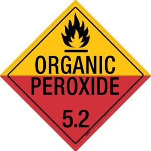 Organic Peroxide: Class 5.2 - Placard Sign