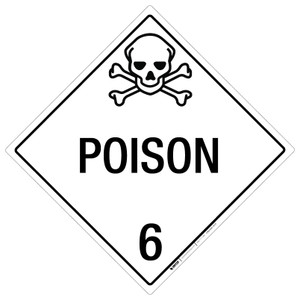 Poison: Class 6 - Placard Sign