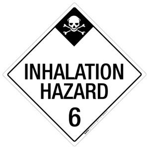 Inhalation Hazard: Class 6 - Placard Sign