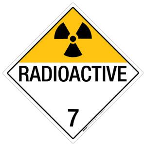 Radioactive: Class 7 - Placard Sign