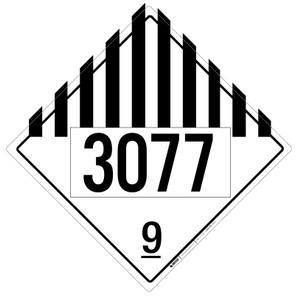 Hazard Class: 9 - UN3077 - Placard Sign