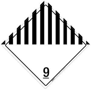 Hazard Class: 9 - Blank - Placard Sign