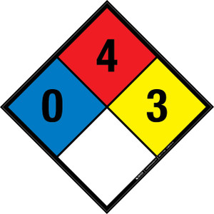 NFPA 704: 0-4-3 - Wall Sign