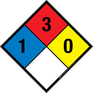 NFPA 704: 1-3-0 - Wall Sign