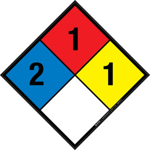 NFPA 704: 2-1-1 - Wall Sign