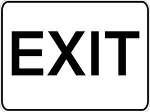 Exit SIgn - Aluminum