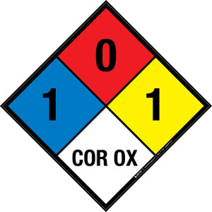 NFPA 704: 1-0-1 COR OX - Wall Sign