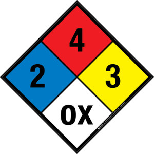 NFPA 704: 2-4-3 OX - Wall Sign