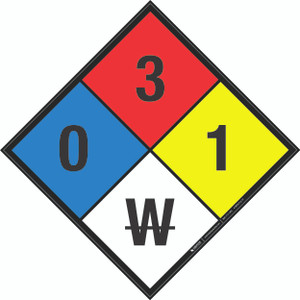 NFPA 704: 0-3-1 W - Wall Sign