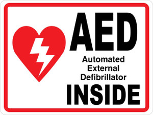 Wall Sign - AED Inside