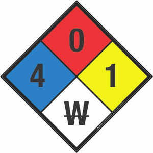 NFPA 704: 4-0-1 W - Wall Sign