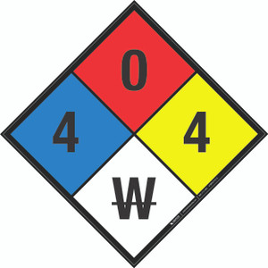 NFPA 704: 4-0-4 W - Wall Sign