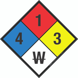 NFPA 704: 4-1-3 W - Wall Sign