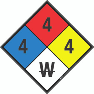 NFPA 704: 4-4-4 W - Wall Sign