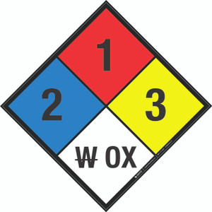 NFPA 704: 2-1-3 W OX - Wall Sign
