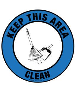 Floor Sign - Keep Area Clean
