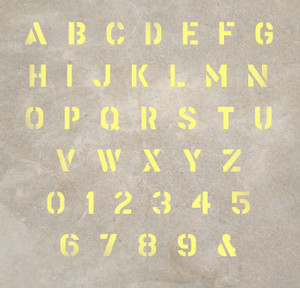 Letters and Numbers - Stencil