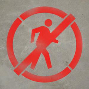 No Pedestrians - Stencil