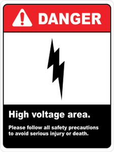 Danger High Voltage Area