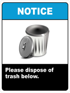 Notice Dispose of Trash