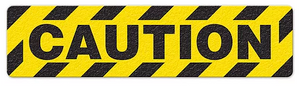 "Caution (6""x24"") Anti-Slip Floor Tape"