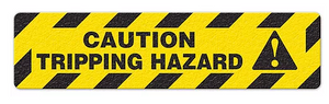 "Caution Tripping Hazard (6""x24"") Anti-Slip Floor Tape"